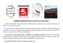 4L Trophy - Une belle initiative